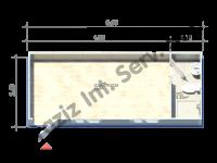 2.4×6 = 14.4 m2 Hekim Panel Konteyner