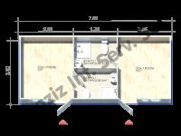 3×7 = 21 m2 Hekim Panel Konteyner